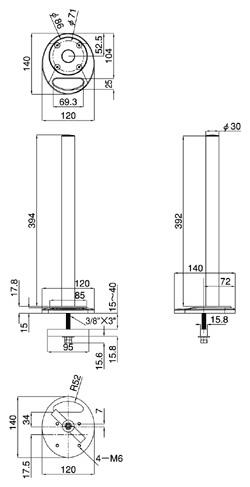 グロメット固定支柱LA-502