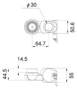 1アーム固定部品LA-514C(図面)