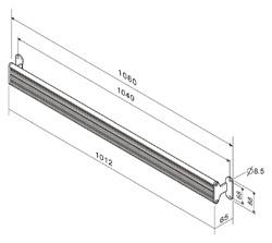 壁面固定レールPA-03(図面)