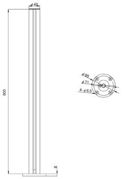 ネジ固定支柱PA-10DX  (図面)