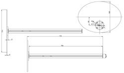 据置支柱PA-113 (図面)