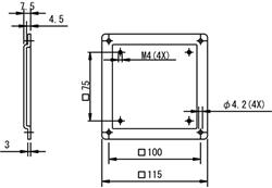 VESA100変換アダプタ(図面)