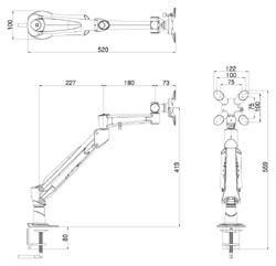 水平垂直アームLA-911(図面)